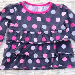 👶 Shimmery Ruffle Polka Dot Shirt by Carter's 💗